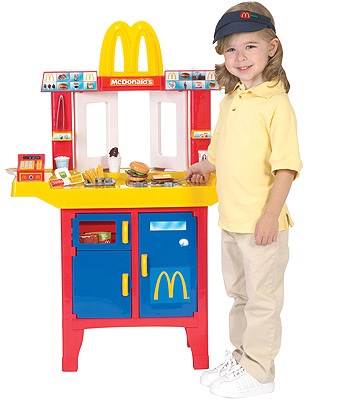 Mcdonald 39 s introduces a toy drive thru kitchen the lunch for Kids kitchen set canada