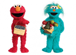 sesame street fruit vegetable