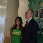 Daniella Monet with HISD Food Services Executive General Manager, Ray Danilowicz