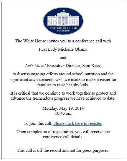 white house invite