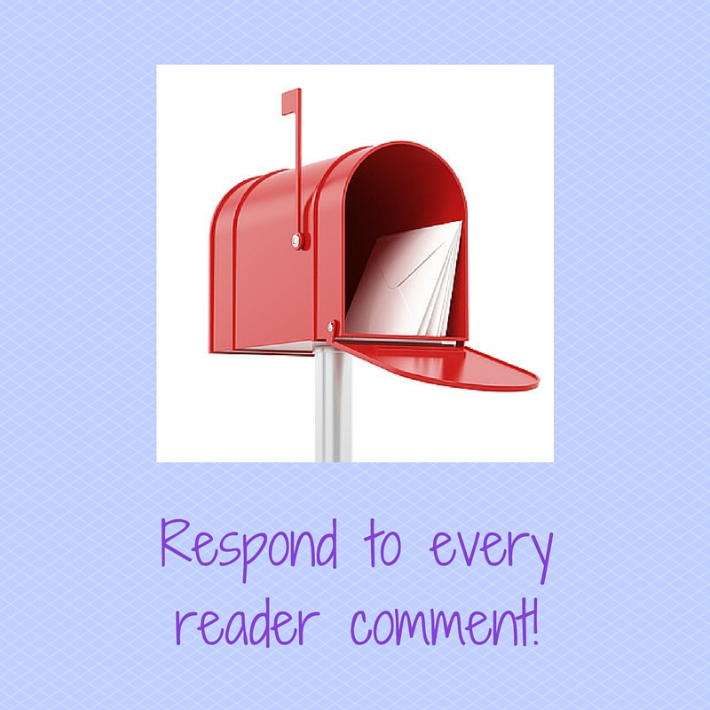 Respond to reader comments!